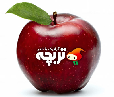 تصویر با کیفیت سیب قرمز