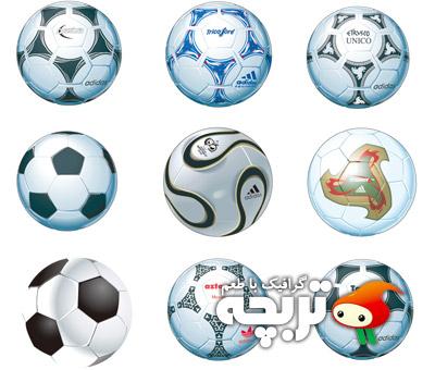 دانلود وکتور توپ فوتبال Soccer Ball Vector