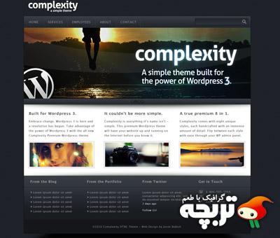 دانلود طرح لایه باز قالب وبسایت شرکتی