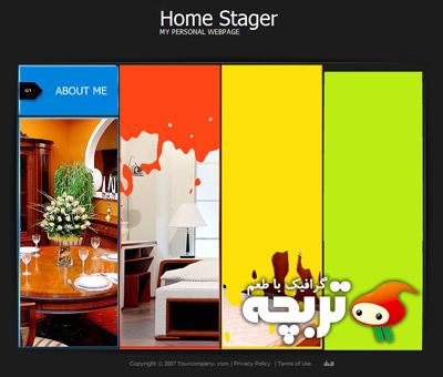 دانلود قالب سایت شخصی فلش Home Stager