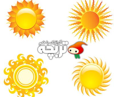 دانلود تصاویر وکتور خورشید Sun Vectors