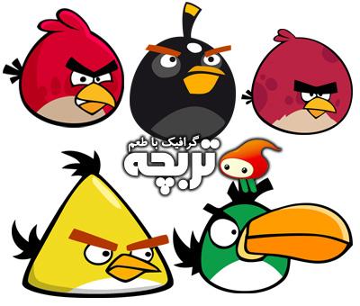دانلود آیکون های بازی پرندگان خشمگین Angry birds Icon