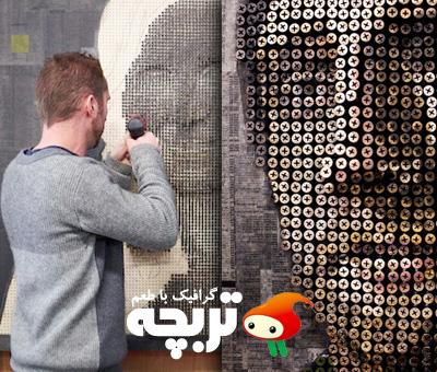 پرتره های خلق شده با پیچ Creative portraits Images