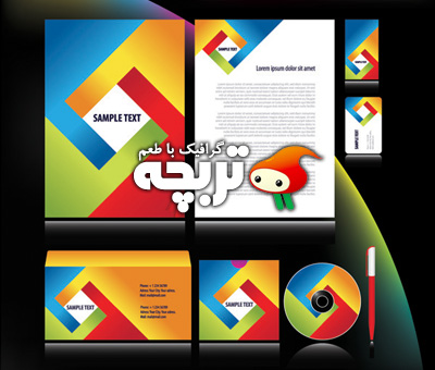 وکتور ست اداری 01 Corporate Identity Vector Set