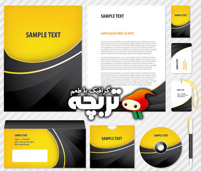 وکتور ست اداری 02 Corporate Identity Vector Set