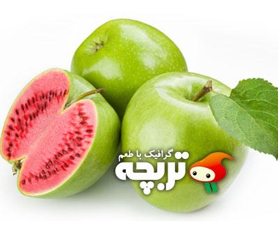 دانلود تصویر با کیفیت سیب و هندوانه Apple And WaterMelon ShutterStock