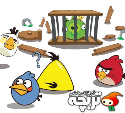 وکتور بازی پرندگان خشمگین Angry Birds Vector