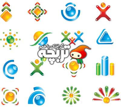 دانلود وکتور لوگوهاي متنوع و انتزاعي Abstract Vector Logo