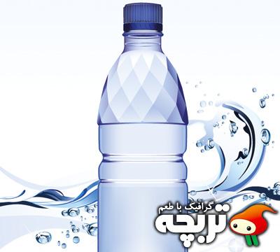 وکتور با کيفيت بطری آب