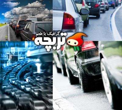دانلود تصاویر استوک ترافیک سنگین Heavy Traffic ShutterStock
