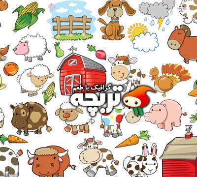 دانلود وکتور حیوانات فانتزی Fantasy Animal Vectors