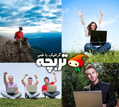 دانلود تصاویر با کیفیت کار با لپ تاپ People Laptop ShutterStock