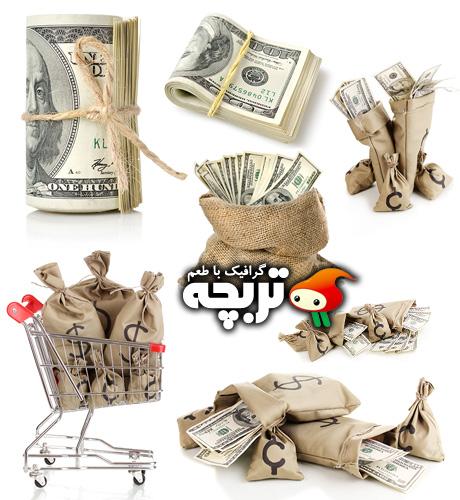 دانلود تصاویر با کیفیت کیسه پول Bag With Money ShutterStock