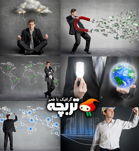 دانلود تصاویر با کیفیت تاجر BusinessMan Connection The Dots