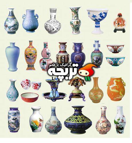 دانلود طرح لایه باز گلدان های سرامیکی Ceramic Vase PSD Layout