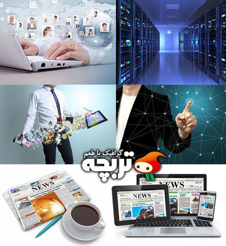 دانلود تصاویر با کیفیت فناوری اطلاعات 02 Information Fotolia Set