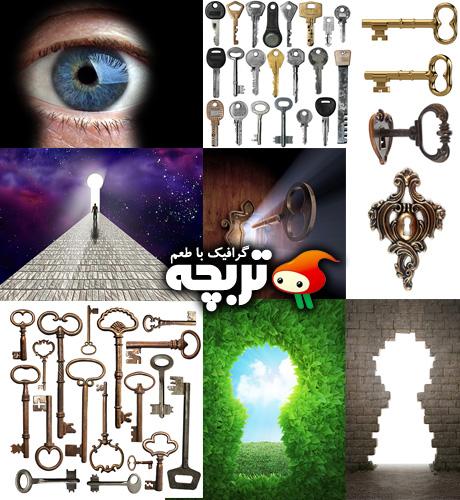 دانلود تصاویر با کیفیت کلید Key And KeyHole ShutterStock Part 01