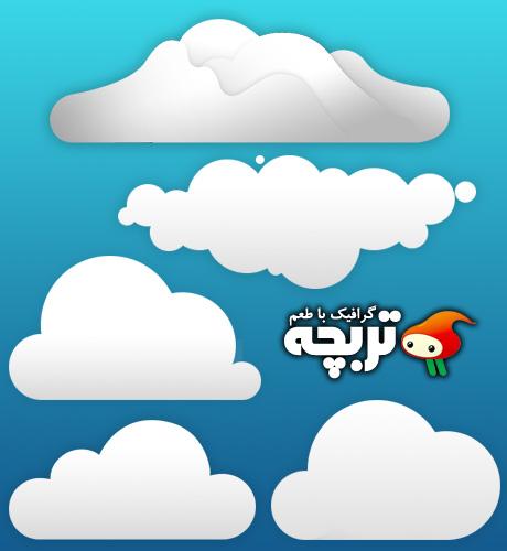 دانلود طرح لایه باز ابر Cloud PSD Layout