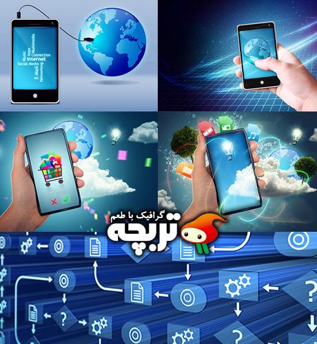 دانلود تصاویر با کیفیت موبایل هوشمند Smart Phone ShutterStock