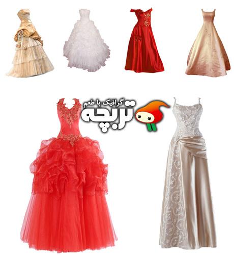دانلود طرح لایه باز لباس عروس  Wedding Dresses PSD Layout Part 01