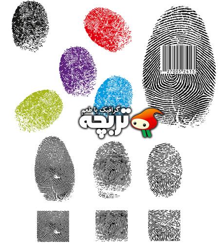 دانلود وکتورهای اثر انگشت Finger Print Vectors