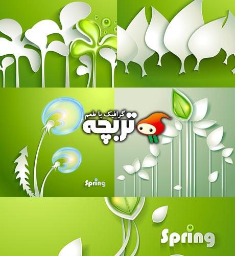 دانلود وکتورهای بهاری مدرن ۰۲ Modern Spring Vectors Part