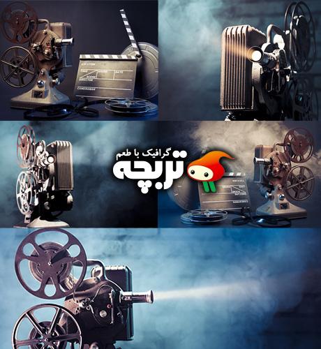 دانلود تصاویر با کیفیت ویدئو پروژکتور قدیمی Old Movie Projector ShutterStock