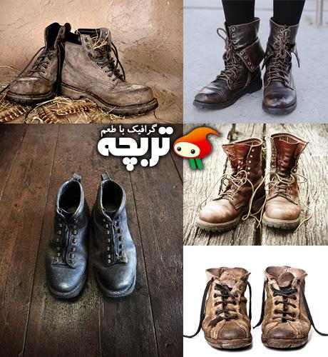 دانلود تصاویر با کیفیت کفش کهنه و قدیمی Old Shoes Fotolia