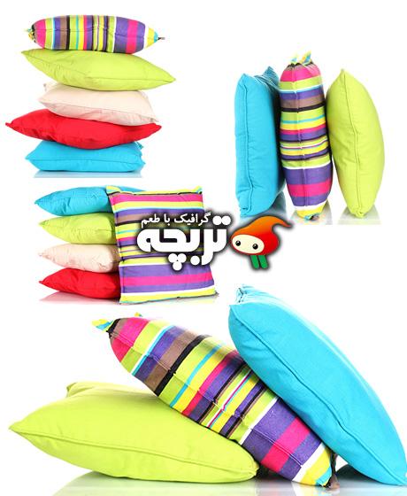 دانلود تصاویر با کیفیت بالش های رنگی Bright Color Pillow Images