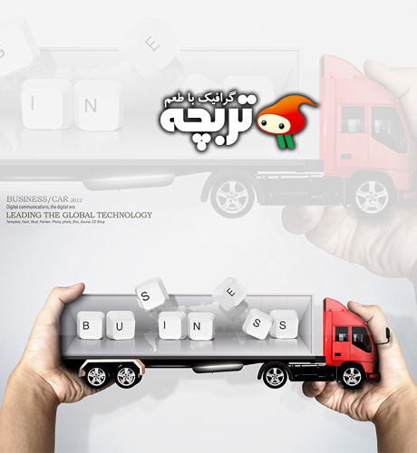 دانلود طرح لایه باز تبلیغاتی اتومبیل Advertising Business Car PSD