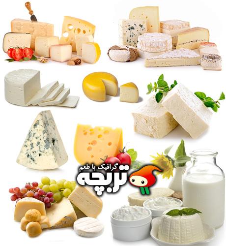 دانلود تصاویر با کیفیت انواع پنیر Cheese Collection Fotolia Images