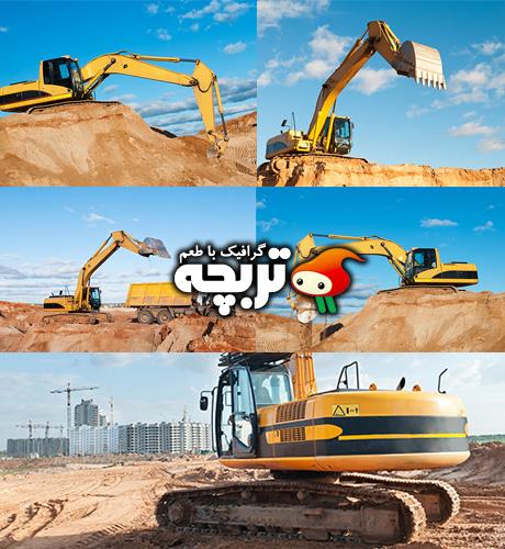 دانلود تصاویر با کیفیت لودر بیل هیدرولیکی Excavator Loader ShutterStock