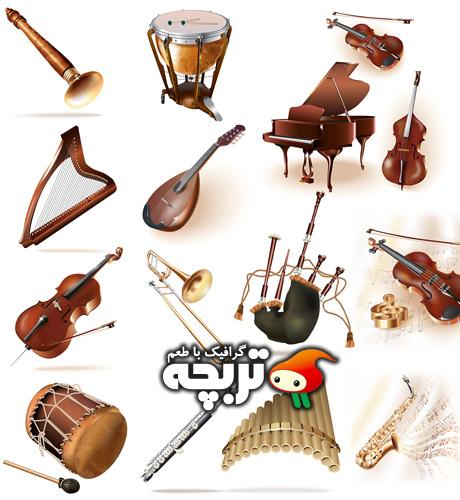 دانلود وکتورهای شاتراستوک آلات موسیقی Music Instruments ShutterStock Vector