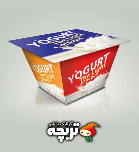 دانلود طرح لایه باز پیش نمایش ماست Yogurt Mockup PSD Layout