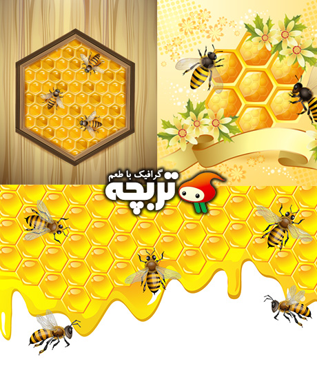 دانلود وکتور بکگراند با طعم عسل Honey BackGround Vectors