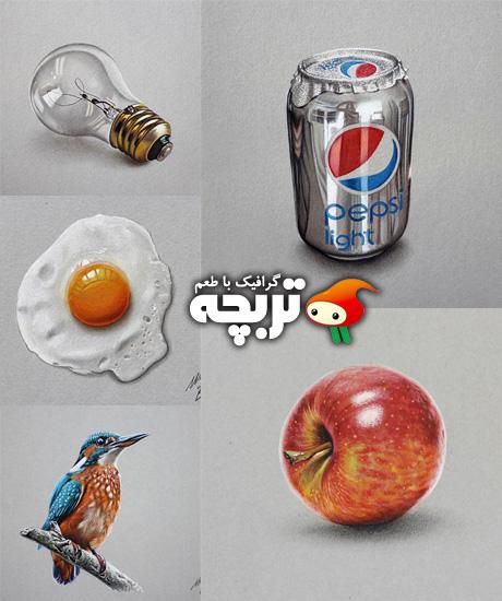 طراحی های بسیار واقع بینانه Hyper Realistic Drawings By Marcello Barenghi
