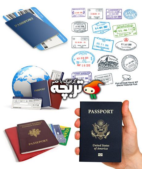 دانلود تصاویر با کیفیت پاسپورت Passport Fotolia Stock Images