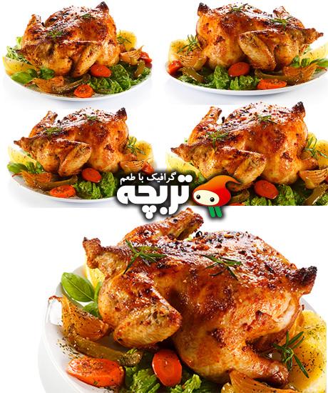 دانلود تصاویر با کیفیت مرغ سخاری Roast Chicken Stock Photos