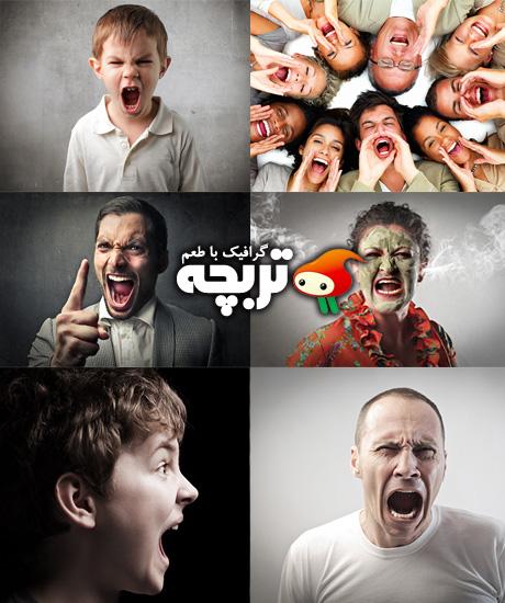 دانلود تصاویر با کیفیت فریاد زدن Screaming People Fotolia HQ Images
