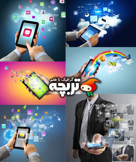 دانلود تصاویر با کیفیت تلفن های هوشمند Smart Phones Stock Images