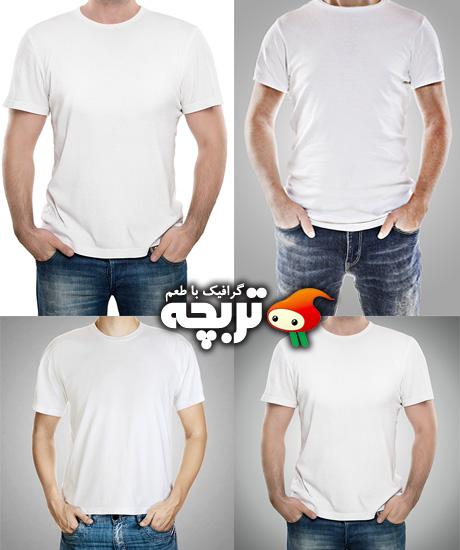 دانلود تصاویر با کیفیت تی شرت خام White T-Shirt Stock Images
