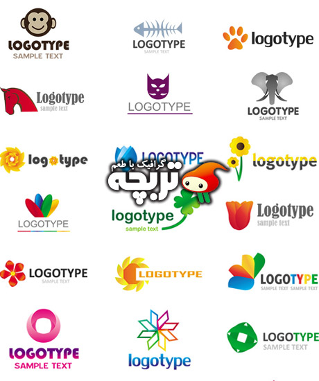 دانلود وکتور لوگو المنت های انتزاعی Abstract Logo Element Vectors