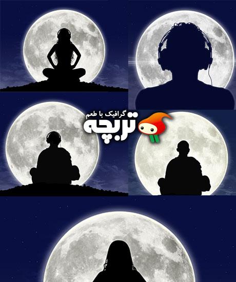 دانلود تصاویر با کیفیت ماه کامل Full Moon Fotolia Stock Images