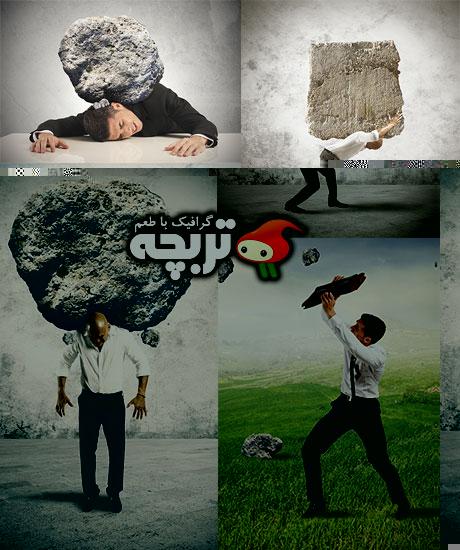 دانلود تصاویر با کیفیت مفهومی کسب و کار Rock Fall Fotolia Stock Images