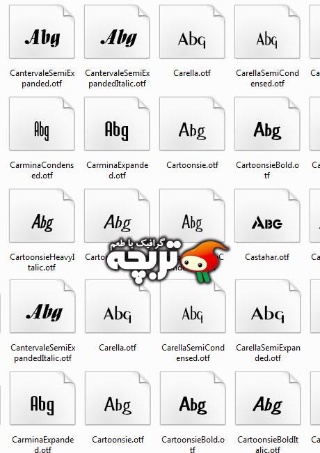 دانلود مجموعه ی 1000 فونت انگلیسی Collection Of 1000 English Fonts