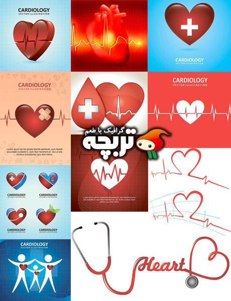 دانلود وکتورهای نوار قلب Cardiology ShutterStock Vectors