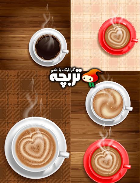 دانلود وکتورهای فنجان قهوه Cup Of Coffee Vectors