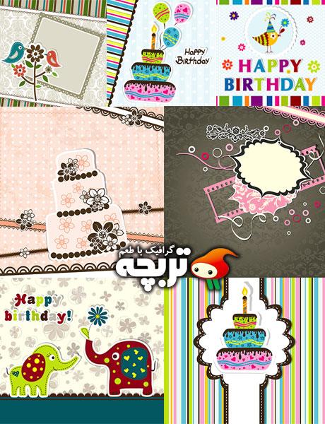 دانلود وکتور الگوهای کارت پستال Greeting Card Templates