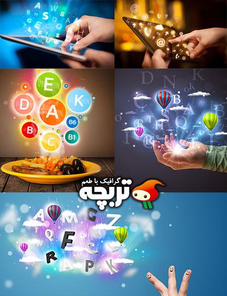 دانلود تصاویر با کیفیت صفحه نمایش لمسی Touch Screen Stock Images