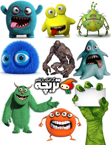 دانلود تصاویر با کیفیت هیولاهای سه بعدی 3D Monsters ShutterStock